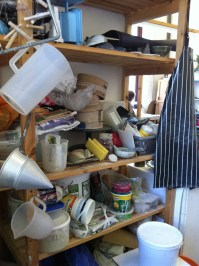 Sue Turner's ceramics studio