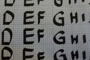 Practicing letters