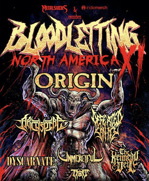 Bloodletting Tour w/ Origin, Archspire, & more at The Riot Room ...
