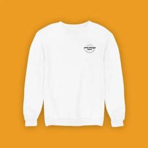Sweatshirt White Pocket