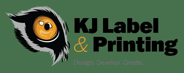 cropped KJ Label Printing Poconos Logo