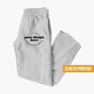 Custom Sweatpants Screen Print