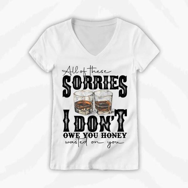 All of These Sorries Vneck Tee