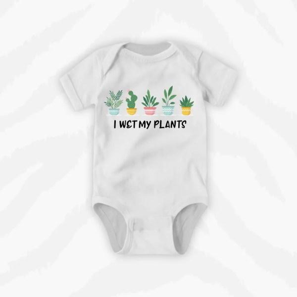I Wet My Plants Baby Onesie