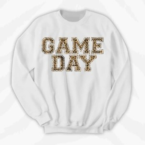 Game Day Cheetah Print Crewneck Sweatshirt