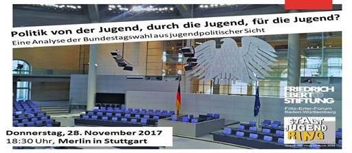 Politik von der Jugend, durch die Jugend, für die Jugend? – Veranstaltung am 28.11.2017