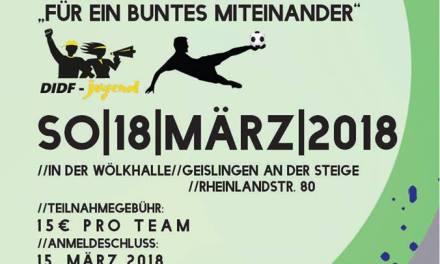 Hallenfußballturnier der DIDF-Jugend Geislingen