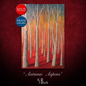 KJsArtStudio.com | Autumn Aspens ~ Original Modern Contemporary Painting by KJ Burk
