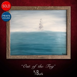 KJsArtStudio.com | Out of the Fog ~ Original Seascape Painting by KJ Burk