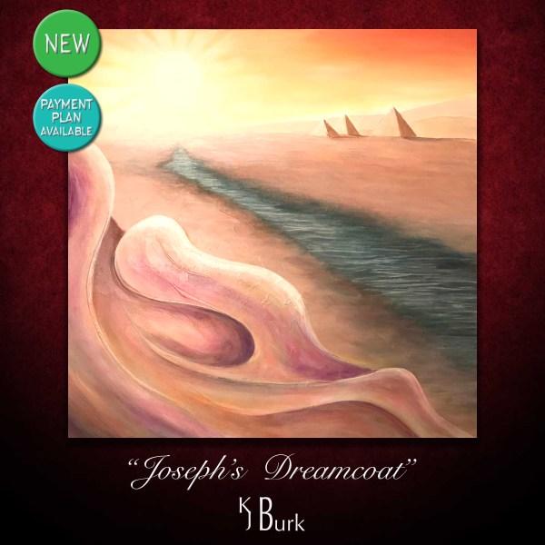 KJsArtStudio.com | Joseph's Dreamcoat ~ Original Spiritually Interpretive Abstract painting based on the Christian Biblical story of Joseph's dream by fine artist, KJ Burk