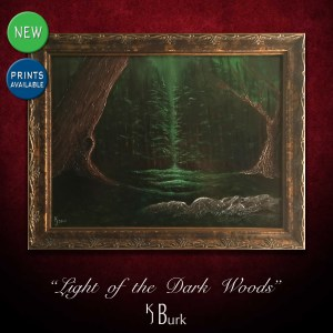 KJsArtStudio.com | Light of the Dark Woods ~ Original Landscape Painting by KJ Burk