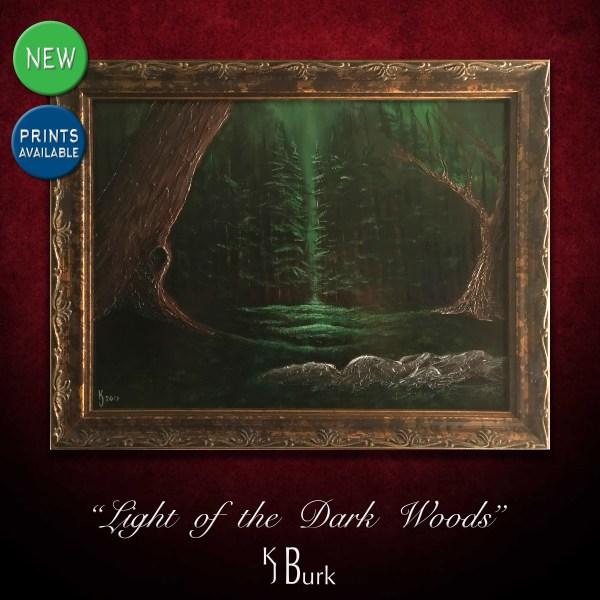 KJsArtStudio.com | Light of the Dark Woods ~ Original Landscape Painting by KJ Burk