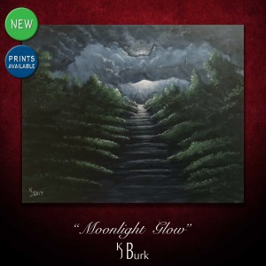 KJsArtStudio.com | Moonlight Glow ~ Original Acrylic Painting by KJ Burk