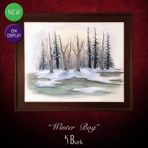 KJsArtStudio.com | Winter Bog ~ Original Heavily Textured Landscape Painting by KJ Burk