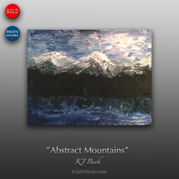 Abstract Mountains - Original Abstract Landscape Painting by KJ Burk