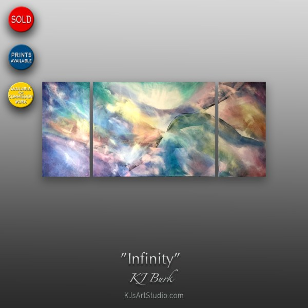 Infinity - Triptych | Original Abstract Painting by KJ Burk