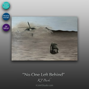 No One Left Behind - Original Military Textured Painting by KJ Burk
