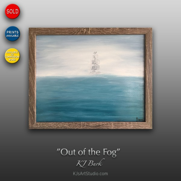 Out of the Fog - Original Seascape Painting by KJ Burk