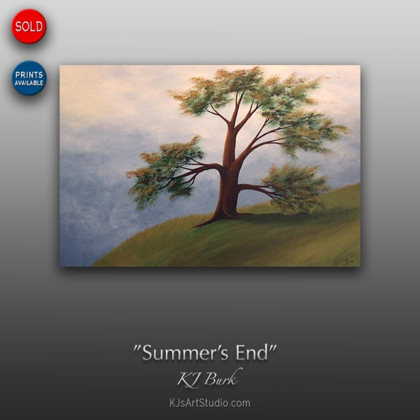 Summer's End - Original Contemporary Landscape Painting by KJ Burk