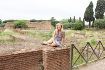 Roman ruins and wildflowers!