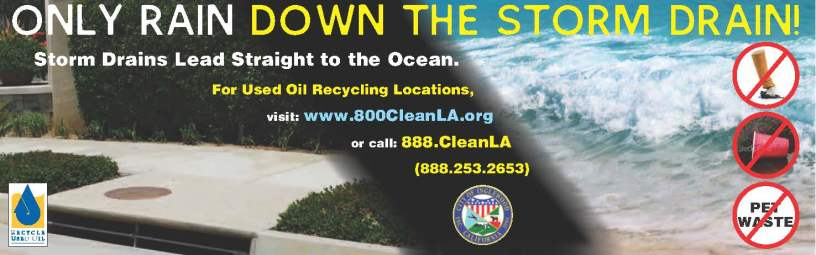 Storm drain billboard for the City of Inglewood