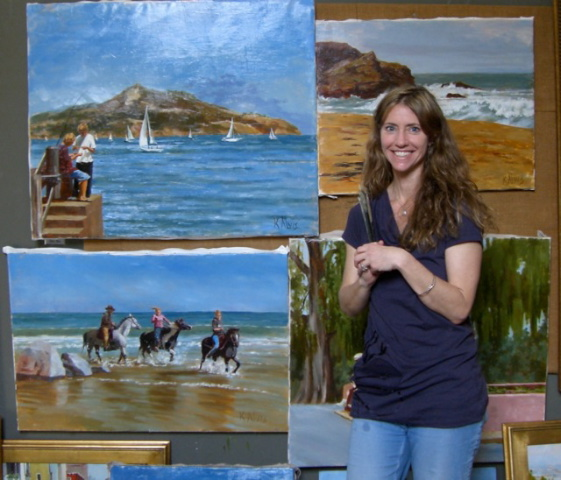 Kimberly Alvis in her studio