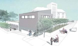 """""""Green"""" addition, Pullen Memorial Baptist Church, Raleigh."""