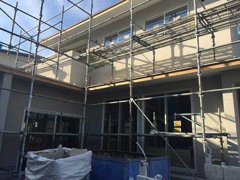外壁左官工事 塗り壁完成