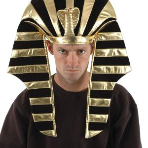 Black and Gold King Tut Hat