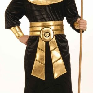 Forum Novelties Men's Pharaoh Costume, Black/Gold, One Size