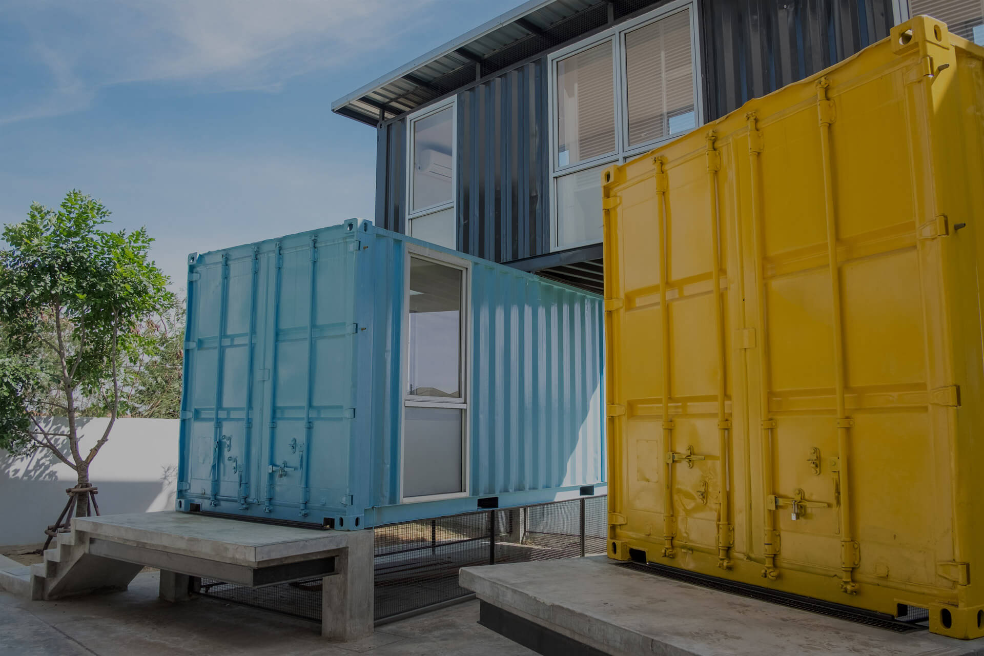house made of modified shipping containers