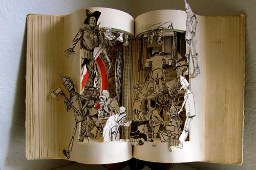 本を使ったアート.1