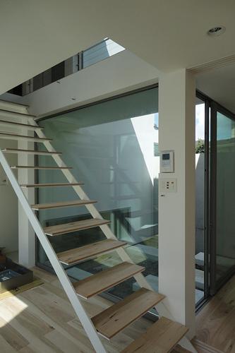 鉄製階段+メープル板