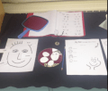 I also did a centre all about Self Portraits. Each of my students drew their self portrait - they ended up adorable!