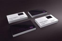 purple card piles