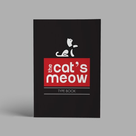 cats meow type book mockup