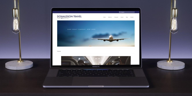 Donaldson Travel Website Mockup