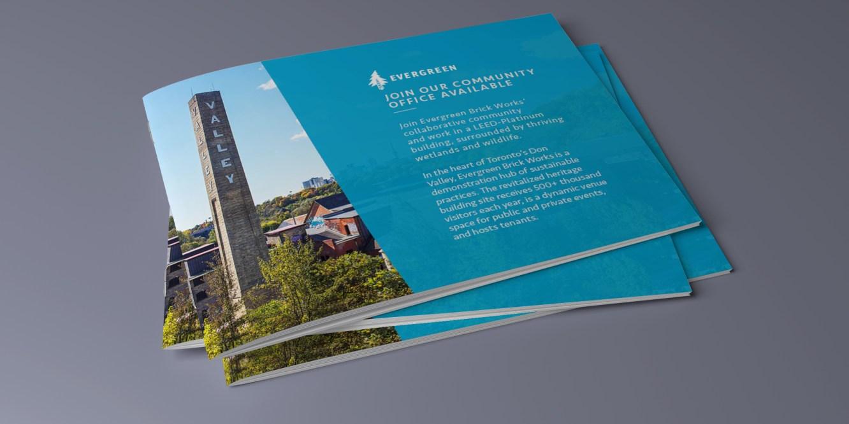 Stack of Evergreen brochures