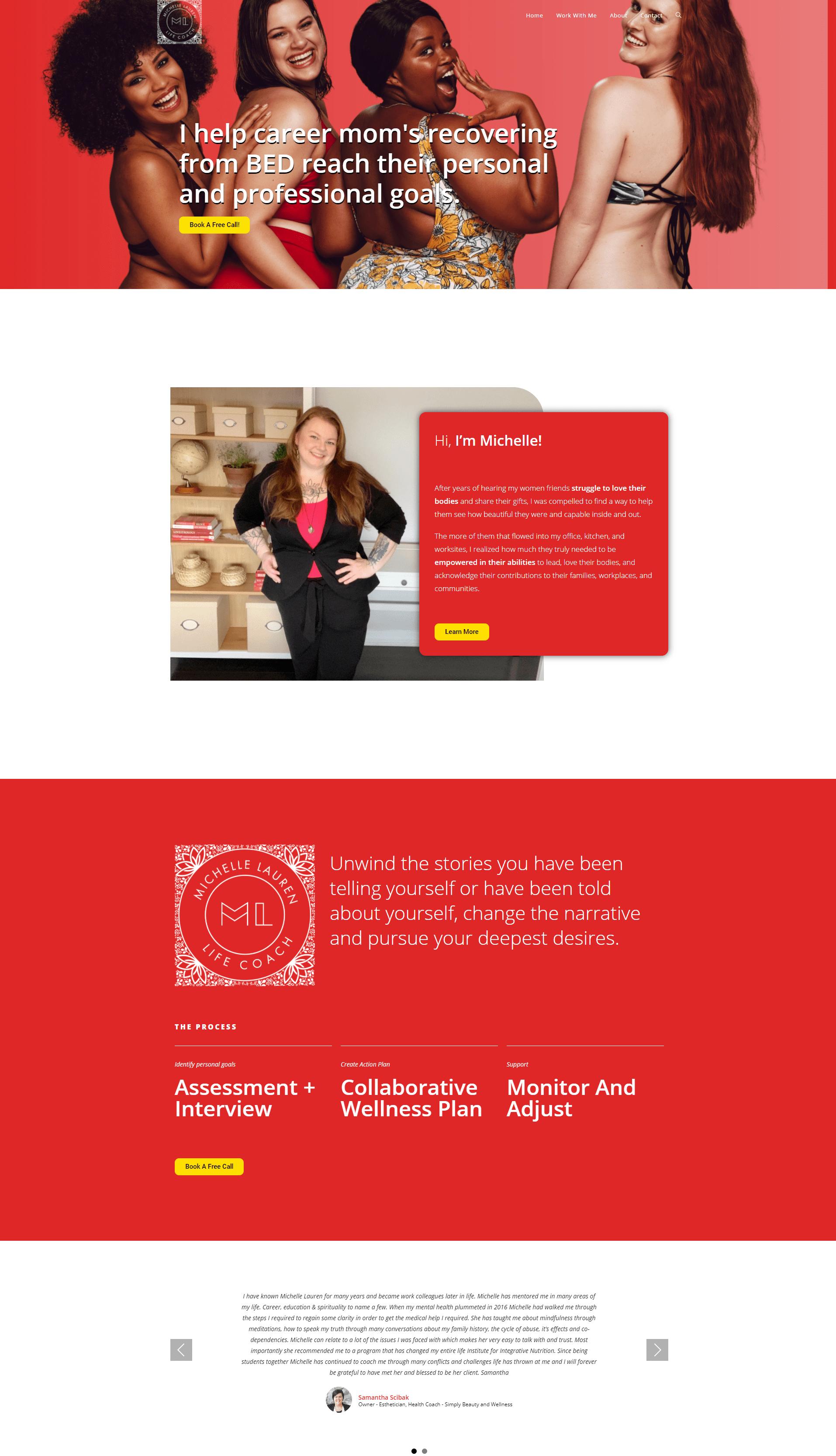 website mockup michelle lauren
