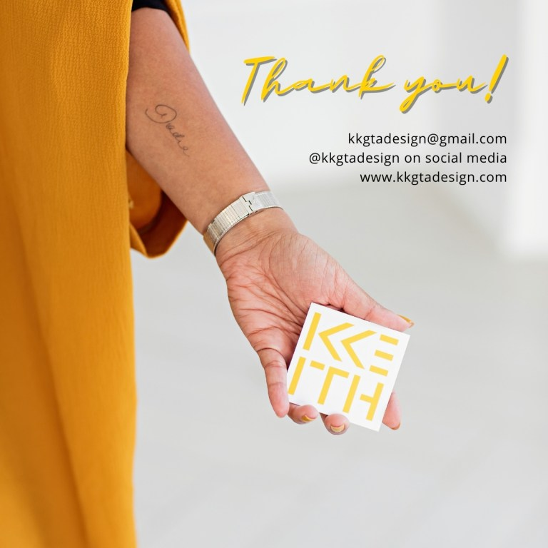 Image of woman holding business card