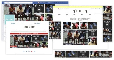 A selection of media including an eblast, banner ads, Facebook and Twitter posts, and a blog cover introducing a new style