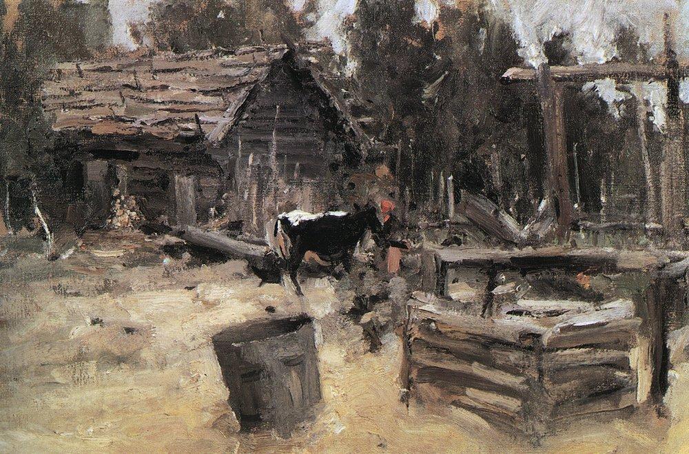 Константин Алексеевич Коровин. Двор. 1904
