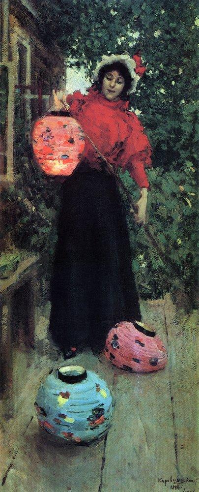 Константин Алексеевич Коровин. Бумажные фонари. 1896