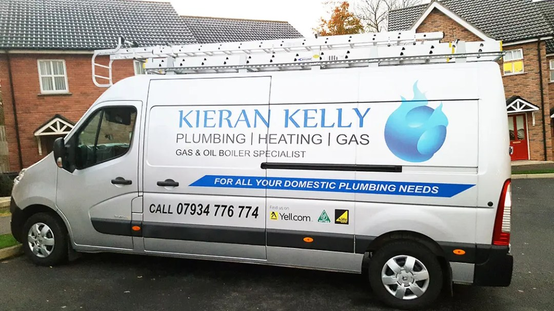Kieran Kelly, Plumbing Heating and Gas (PHG) Van