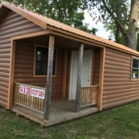 14x28 Utility Cabin w/ Log Siding