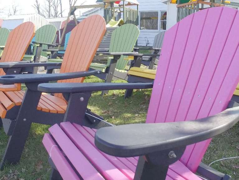 Poly Adirondack Chairs in various colors