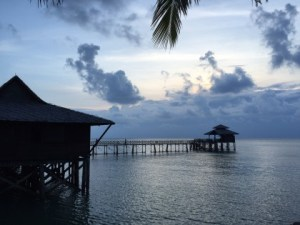 夕日の見える水上レストラン「ケロンシーフード」