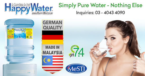 malaysia happy water