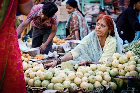 Gemusemarkt am Radar Bazar, Udaipur