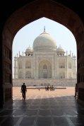 Moschee vorm Mausoleum Taj Mahal, Agra